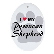 Love My Pyrenean Shepherd Ornament (Oval)