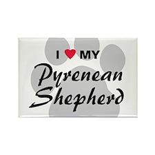Love My Pyrenean Shepherd Rectangle Magnet