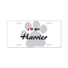 I Love My Harrier Aluminum License Plate
