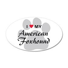 Love My American Foxhound 22x14 Oval Wall Peel