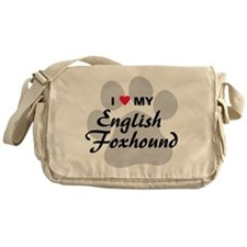 I Love My English Foxhound Messenger Bag