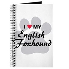 I Love My English Foxhound Journal