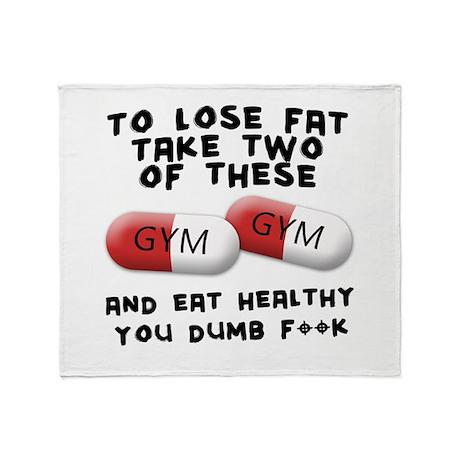 Eat healthy you f**k Throw Blanket