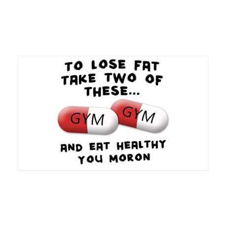 Eat Healthy you moron 38.5 x 24.5 Wall Peel