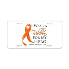 Hero Kidney Cancer Aluminum License Plate
