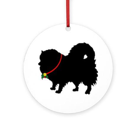 Christmas or Holiday Pomerani Ornament (Round)
