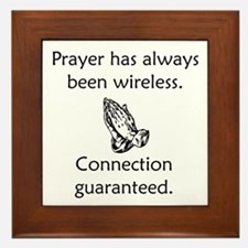Connection To God Guaranteed Framed Tile