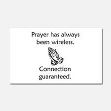 Connection To God Guaranteed Car Magnet 20 x 12