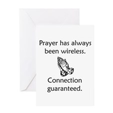 Connection To God Guaranteed Greeting Card