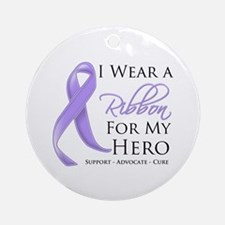Hero Ribbon General Cancer Ornament (Round)
