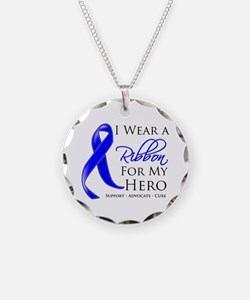 Hero Colon Cancer Necklace Circle Charm