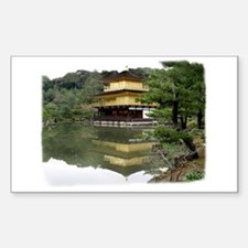Helaine's Golden Pavilion Rectangle Decal