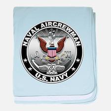USN Naval Aircrewman Eagle AW baby blanket