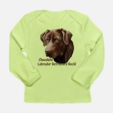 Chocolate Labs Rock Long Sleeve Infant T-Shirt