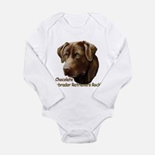 Chocolate Labs Rock Long Sleeve Infant Bodysuit