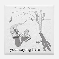 Desert Survival: Personalize Tile Coaster