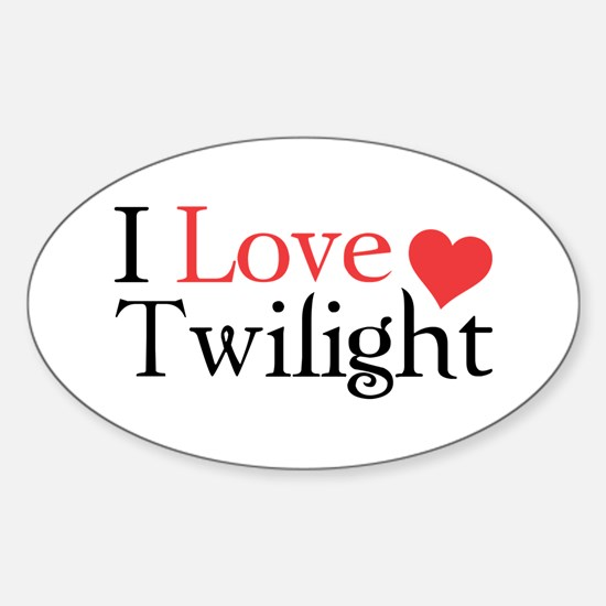 I Love Twilight Sticker (Oval)