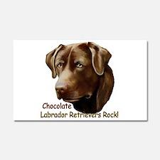 Chocolate Labs Rock Car Magnet 20 x 12