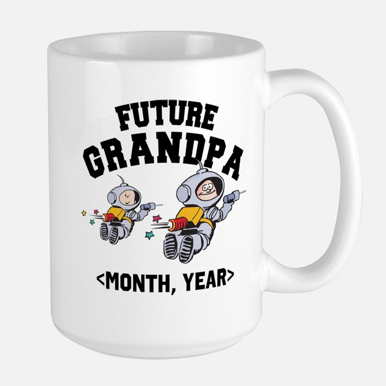 Personalized Future Grandpa Mugs