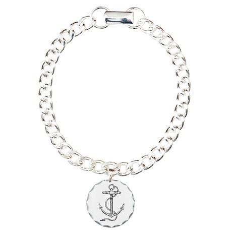 Nautical Anchor Sailor / Pira Charm Bracelet, One