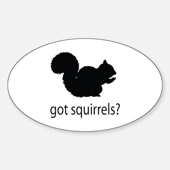 Got squirrels? Sticker (Oval)