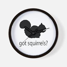 Got squirrels? Wall Clock