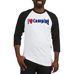 I Love Camping Baseball Jersey