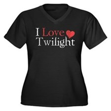 I Love Twilight 2 Women's Plus Size V-Neck Dark T-