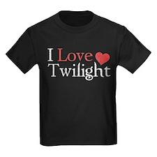 I Love Twilight 2 Kids Dark T-Shirt