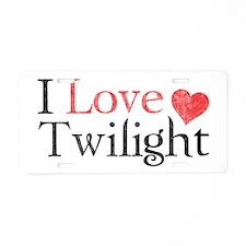 I Love Twilight 2 Aluminum License Plate