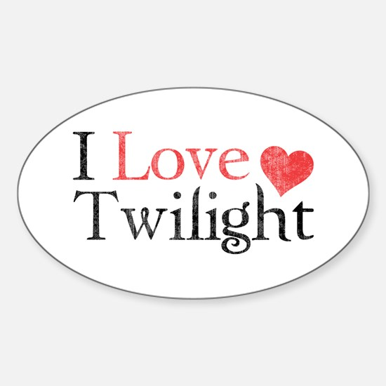 I Love Twilight 2 Sticker (Oval)