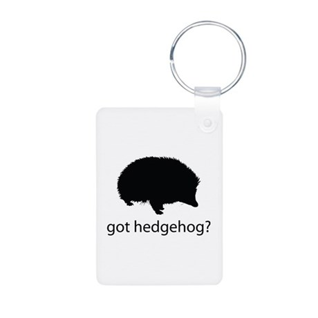 Got hedgehog? Aluminum Photo Keychain