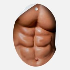 Ripped Abs Ornament (Oval)