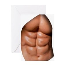 Ripped Abs Greeting Card