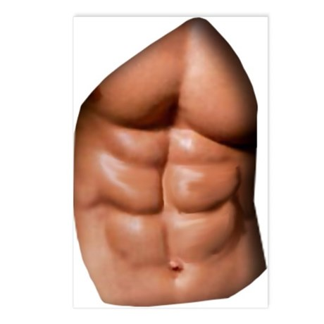 Ripped Abs Postcards (Package of 8)