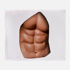 Ripped Abs Throw Blanket