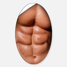 Ripped Abs Sticker (Oval)