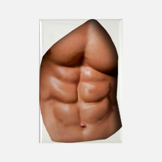 Ripped Abs Rectangle Magnet