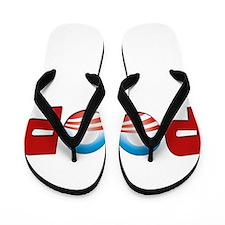 Funny President race Flip Flops