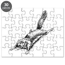 Flying Squirrel Illustration Puzzle