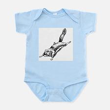 Flying Squirrel Illustration Infant Bodysuit