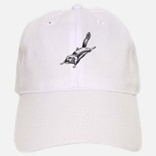 Flying Squirrel Illustration Baseball Baseball Cap
