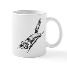 Flying Squirrel Illustration Mug