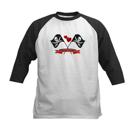 I heart Sparrow Kids Baseball Jersey