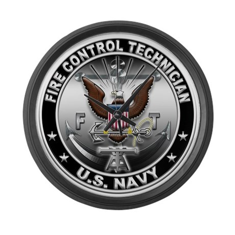 USN Fire Control Technician E Large Wall Clock