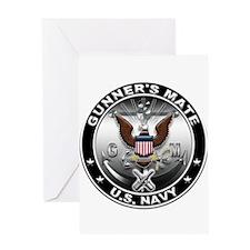 USN Gunners Mate Eagle GM Greeting Card