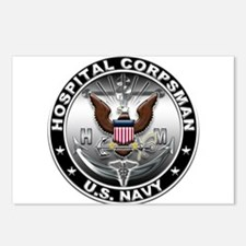 USN Hospital Corpsman Eagle H Postcards (Package o