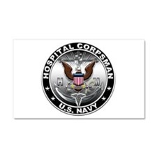 USN Hospital Corpsman Eagle H Car Magnet 20 x 12