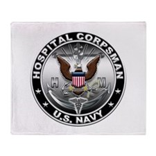 USN Hospital Corpsman Eagle H Throw Blanket