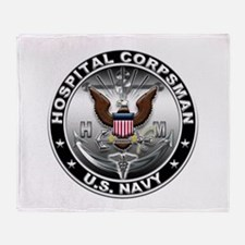USN Hospital Corpsman Eagle H Throw Blanket